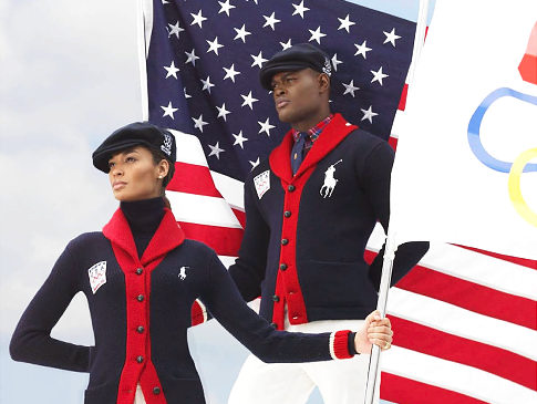 Ralph Lauren partners with the US Olympic team as official outfitter.