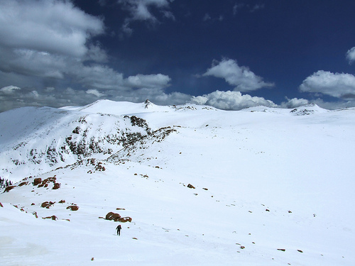 Approaching Sentinel Point, west side of Pikes Peak
