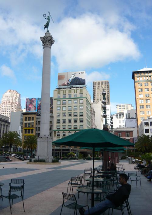 Apple iPad Billboard over Union Square, San Francisco, California
