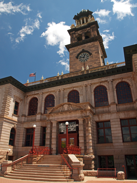 The Pioneers Museum, downtown Colorado Springs, Colorado, history museum, local history
