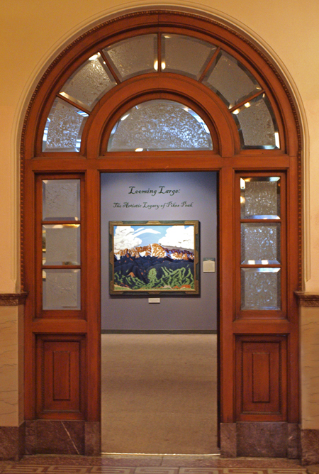 Pioneers Museum, entrance to Looming Large exhibit