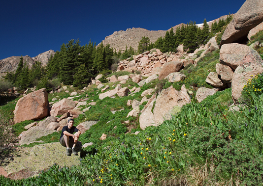 Pikes Peak, Barr Trail, treeline, timberline, photo, self-portrait, self