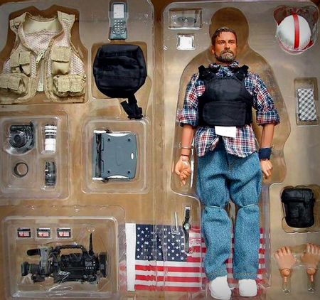 journalism journalist war outfit wartime embed embedded action figurine