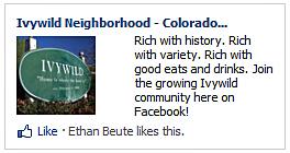 Ivywild, Ad, Facebook, Facebook Ad, Neighborhood, Colorado, Sign, Advertisement