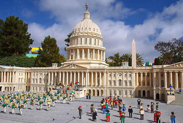 US Capitol, capitol building, capital, Washington DC, Lego, Legoland