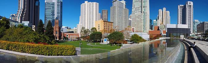 pano, panoramic, panorama, Yerba Buena Gardens, SF, San Francisco, Yerba Buena