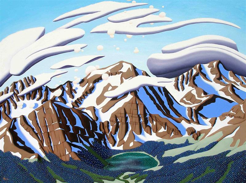 Tracy Felix, art, artist, painting, Colorado, landscape, Sangres, Sangre de Cristo, Megan Lake, Rito Alto Peak, Mount Owen, mountains