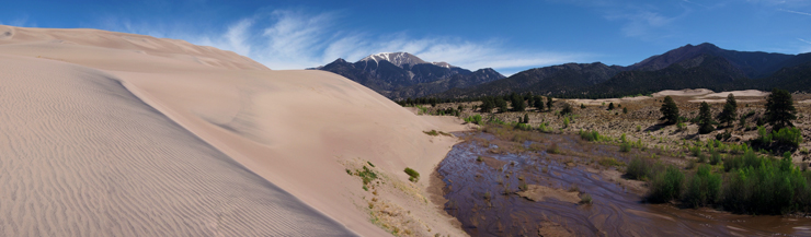 Great Sand Dunes, Medano Creek, Mount Herard, National Park, NPS