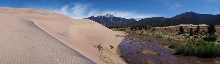 Great Sand Dunes, Medano Creek, Mount Herard, National Park, NPS