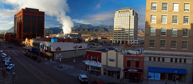 steam, energy, plant, power plant, downtown, city, urban, Colorado Springs, Colorado, Tejon