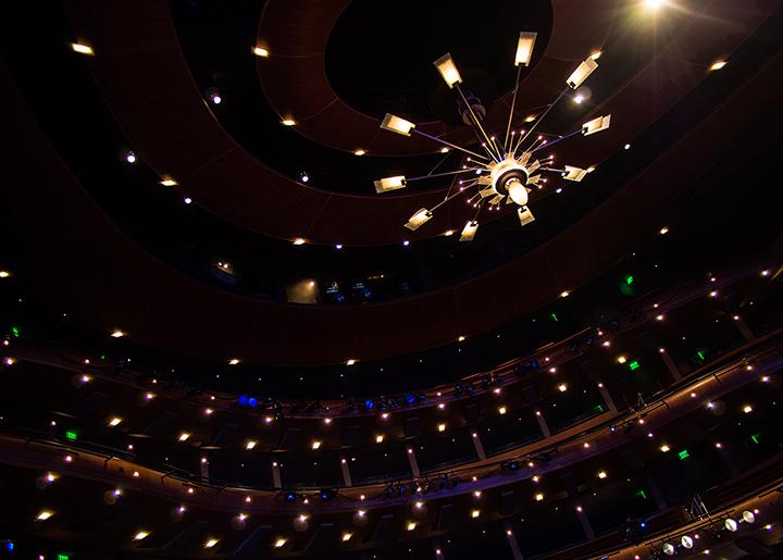 Ellie Caulkins, Opera House, lights, theater, Denver, Colorado