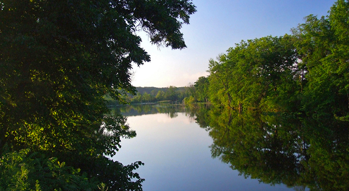 water, river, Thornapple River, Middleville, Michigan, nature, trees, capital, natural capital, primary goods