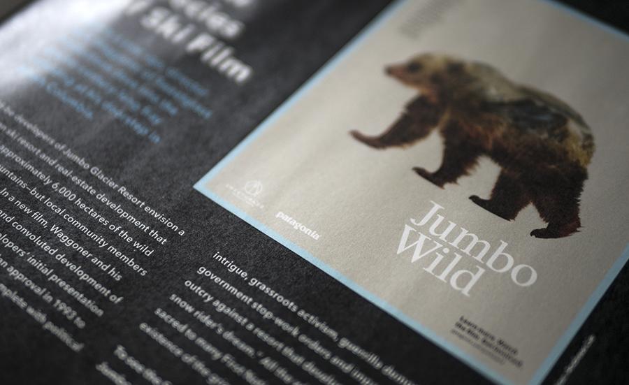 Jumbo Wild, Sweetgrass Productions, Patagonia, Patagonia catalog, Jumbo Valley, activism, environmentalism
