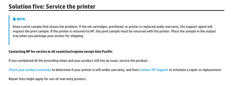 servicing, repair, printer repair, HP printer repair, HP customer support