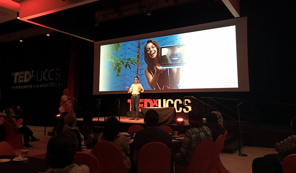 TED talk, TEDx UCCS, TEDx, UCCS, Ethan Beute, face to face, communication, video communication, webcam