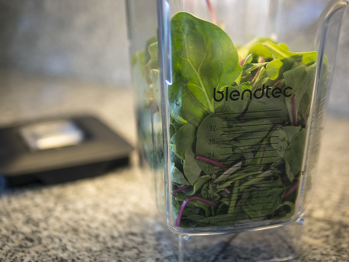 Blendtec, Blend Tec, blender, blender how to, step by step, blender instructions, greens, spinach, kale, chard