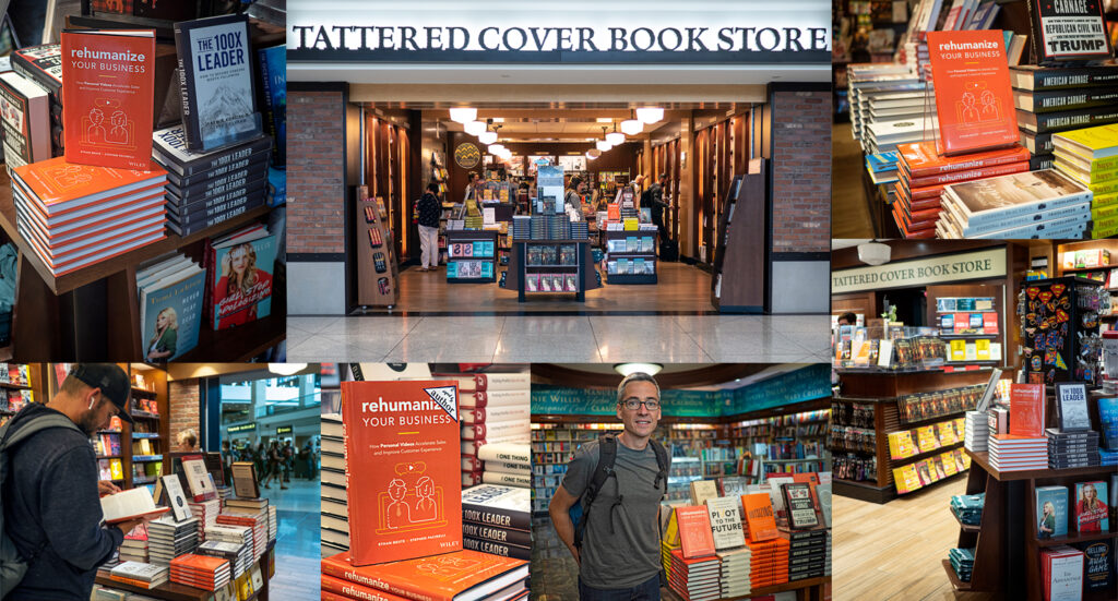 Rehumanize Your Business, Tattered Cover Bookstore, Denver, write a book, publish a book, book display