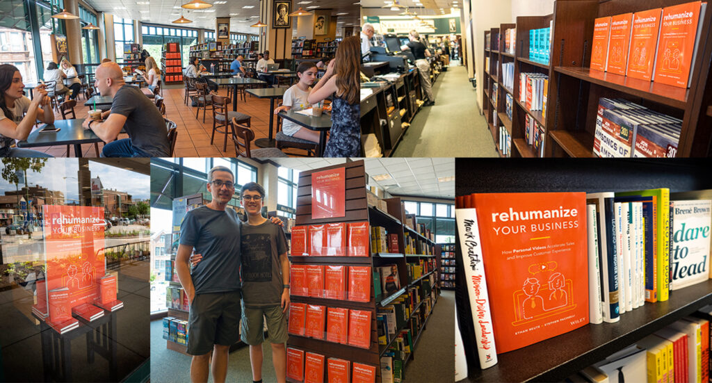 Rehumanize Your Business, write a book, publish a book, Ethan Beute, Chicago, Barnes & Noble